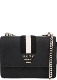 Маленькая кожаная сумка с двумя отделами Dkny