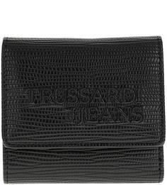 Черный кошелек с тиснением Trussardi Jeans