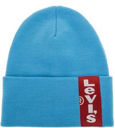 Шапка бини с логотипом бренда Levis