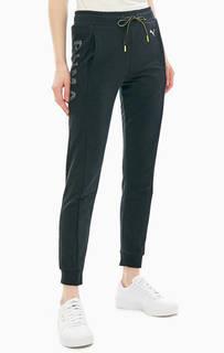 Хлопковые брюки джоггеры с сетчатыми вставками Puma