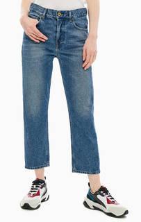 Укороченные синие джинсы с заломами Aryel Diesel