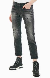 Серые джинсы с низкой посадкой D-Rifty Diesel
