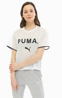 Футболка белого цвета с короткими рукавами Puma