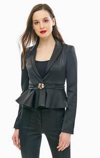 Черный пиджак с баской Patrizia Pepe
