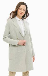 Двубортное хлопковое пальто с накладными карманами Marc Opolo
