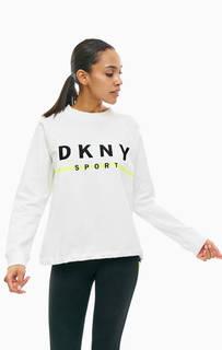 Хлопковый свитшот с вышивкой Dkny