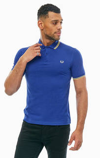 Синяя хлопковая футболка поло Fred Perry