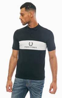 Хлопковая футболка поло с логотипом бренда Fred Perry