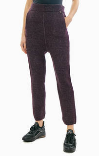 Фиолетовые брюки с подкладкой из вискозы Patrizia Pepe
