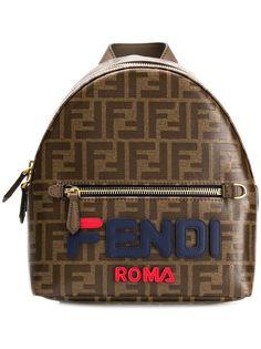 Fendi мини рюкзак с принтом