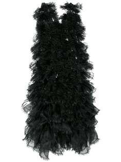 Comme Des Garçons Noir Kei Ninomiya многослойное платье с необработанным краем