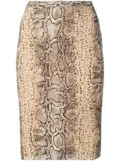 Dolce & Gabbana Vintage юбка-карандаш с эффектом змеиной кожи