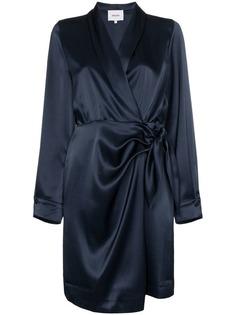 Nanushka атласное платье мини Siwa с запахом