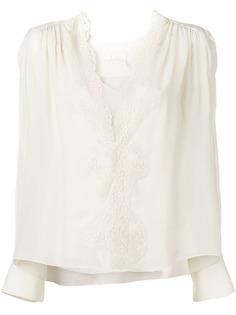 Chloé блузка с V-образным вырезом