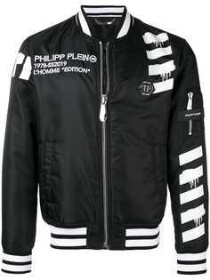 Philipp Plein куртка-бомбер с принтом черепа