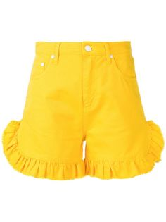 MSGM frilled denim shorts