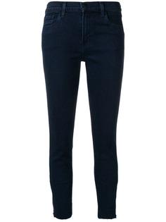 J Brand джинсы скинни с необработанными краями