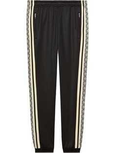 Gucci трикотажные спортивные брюки в стиле оверсайз