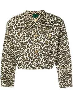 Jean Paul Gaultier Vintage укороченная куртка с леопардовым принтом