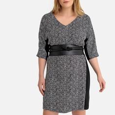 Платье прямое с принтом до колен Castaluna