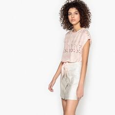Блузка с вышивкой без рукавов и круглым вырезом LOAN Suncoo