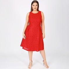 Платье-миди расклешенное из кружева без рукавов Lovedrobe