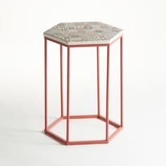 Столик журнальный круглый на одной ножке с керамической столешницей, Topim La Redoute Interieurs