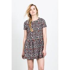 Короткое расклешённое платье с короткими рукавами AZTECA SKIRT Compania Fantastica