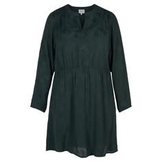 Платье однотонное с V-образным вырезом, расклешённое Zizzi