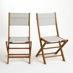 Комплект из 2 складных садовых стульев, Exodor La Redoute Interieurs