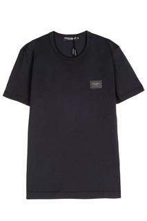 Темно-синяя футболка Dolce & Gabbana