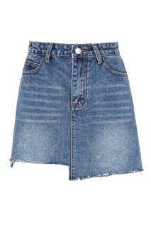 Джинсовая голубая мини-юбка Ruban
