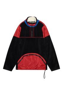 Красно-черная куртка-анорак Tommy Hilfiger