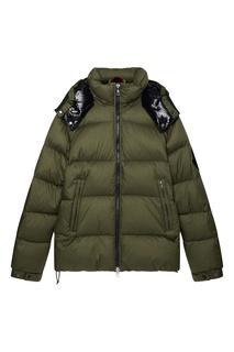 Куртка-пуховик цвета хаки Bernier Moncler