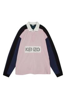 Рубашка-поло в дизайне цветными блоками Kenzo