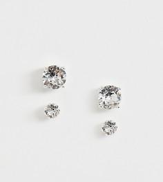 Серебристые серьги-гвоздики с кристаллами Swarovski от ASOS DESIGN - Серебряный