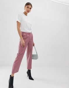 Расклешенные брюки в тонкую полоску Pieces - Розовый