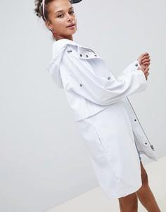 Белый дождевик со вставкой ASOS DESIGN - Мульти