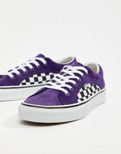 Фиолетовые вельветовые кроссовки Vans Lampin VA38FIU9D - Синий