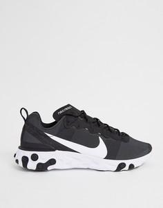 Черно-белые кроссовки Nike React Element 55 - Черный