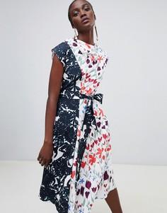 Платье миди с цветочным принтом Finery Fenmore - Мульти