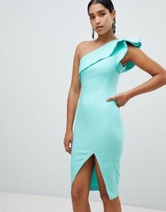 Платье миди на одно плечо Vesper - Синий