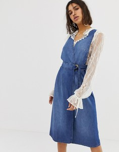 Джинсовое платье Free People keeping my cool - Синий