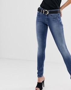 Супероблегающие джинсы с классической талией G-Star Lynn - Синий