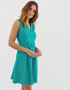 Короткое приталенное платье Naf Naf romantic - Черный