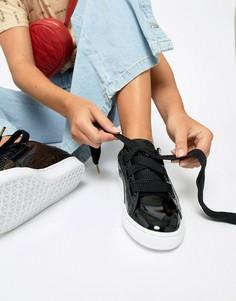 Черные кроссовки Puma - Черный