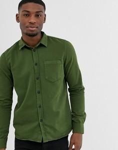 Окрашенная рубашка цвета хаки Nudie Jeans Co Henry - Зеленый