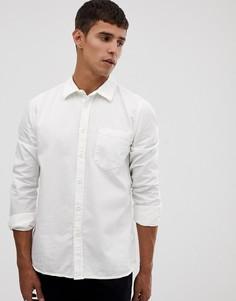 Белая окрашенная рубашка Nudie Jeans - Белый