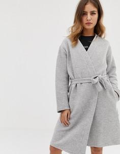 Халат из вафельного трикотажа Calvin Klein - Серый
