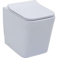 Унитаз приставной Aquanet Tavr-F BL-103N-FST с тонким сиденьем микролифт (203348)